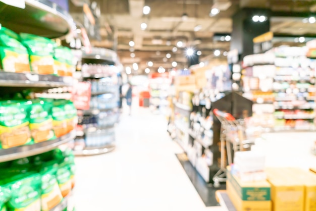 Unscharfer und unscharfer supermarkt