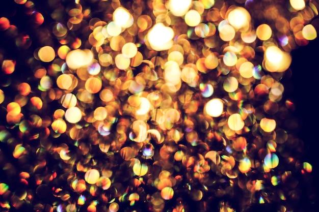Unscharfes abstraktes licht der luxuslampe nachts für partei- oder feierhintergrund