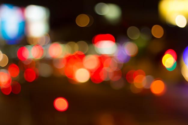 Unscharfes bild von lichtern