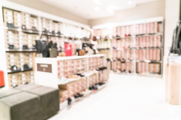 Unscharfes einzelhandelsgeschäft im einkaufszentrum