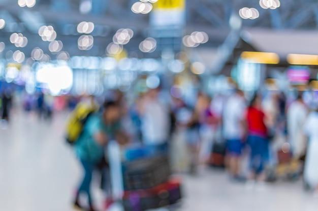 Unscharfes foto des flughafens in bangkok, thailand