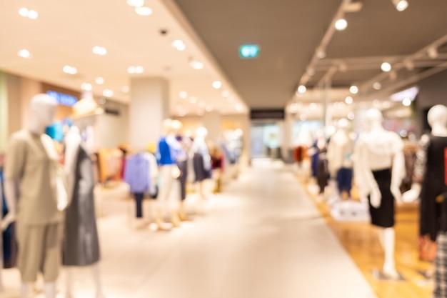 Unscharfes geschäft tuch boutique shop unschärfe hintergrund