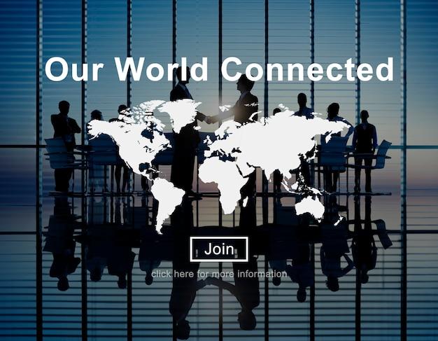 Unsere welt verbundenes social networking interconnection konzept