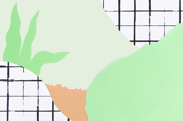 Unter dem meereshintergrund mit diy-papierhandwerk