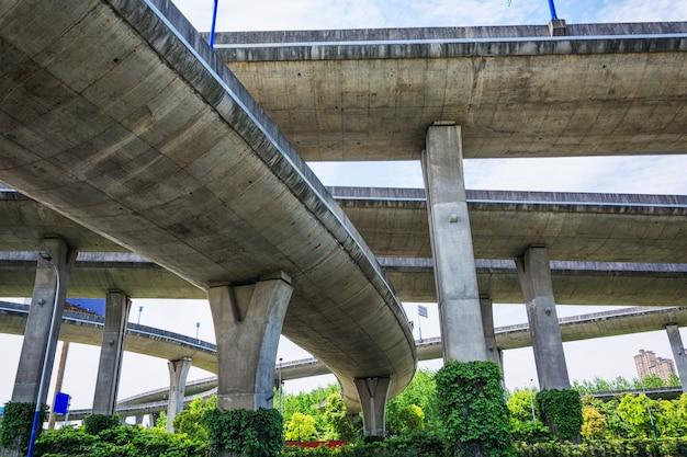 Unter dem viadukt der stadt