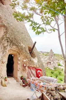 Untergrundstadt kappadokiens innerhalb der felsen