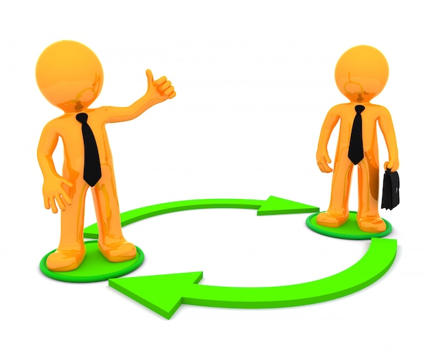 Unternehmenskommunikation. konzeptionelle illustration