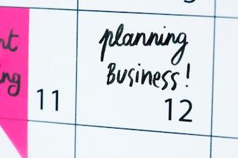 Unternehmensplanung Kalender Erinnerung