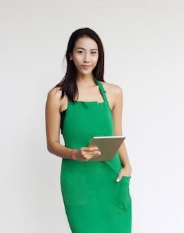 Unternehmer asiatische dame viel beschäftigter tag
