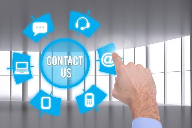 Unternehmer berührenden e-mail-dienst