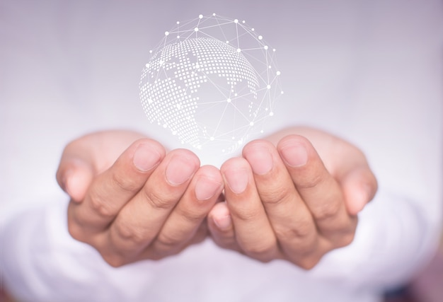 Unternehmer-netzwerk-technologie und kommunikation