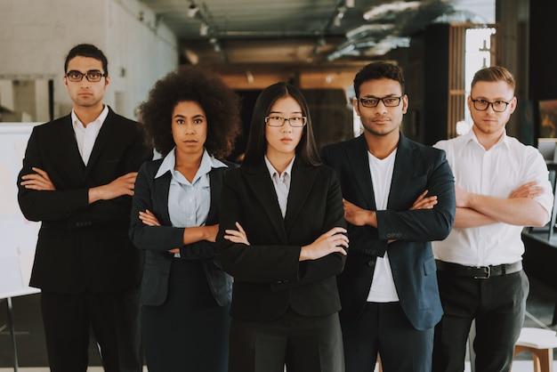 Unternehmer und unternehmerinnen verschiedener nationalitäten