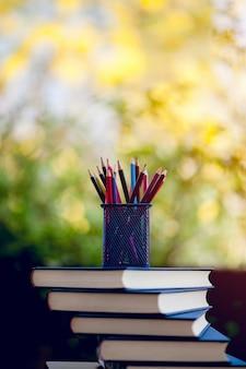 Unterrichtsmaterial, tafeln und bücher