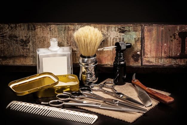 Unterschiedliche ausrüstung im friseursalon