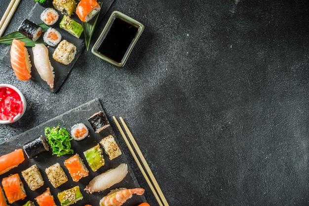 Unterschiedlicher sushi-mischsatz