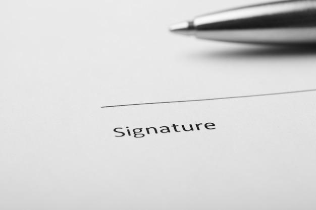 Unterschreiben sie hier feld.