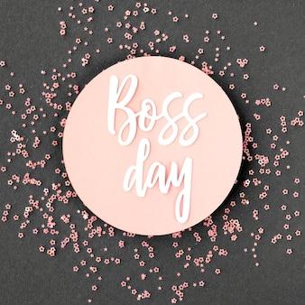 Unterschreiben sie mit boss day event