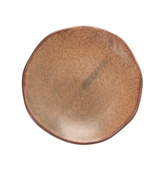 Untersetzer basteln sie keramik auf weißem lokalisiertem hintergrund mit beschneidungspfad.