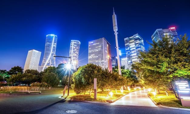 Urban nightscape moderne architektur