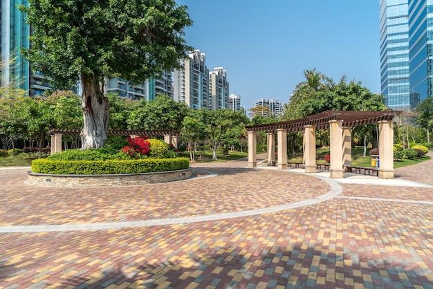 Urbane moderne wohngartengemeinschaftsumgebung