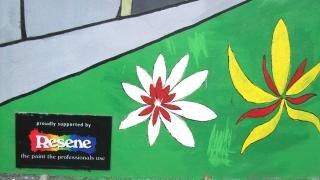 Urbanen graffiti - community-projekt in der nähe