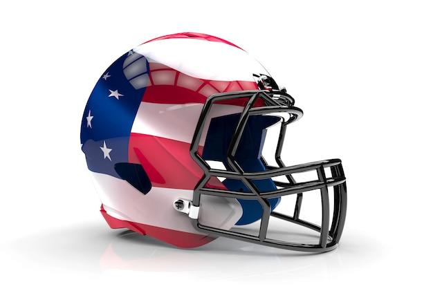 Us-amerikanischer football-helm