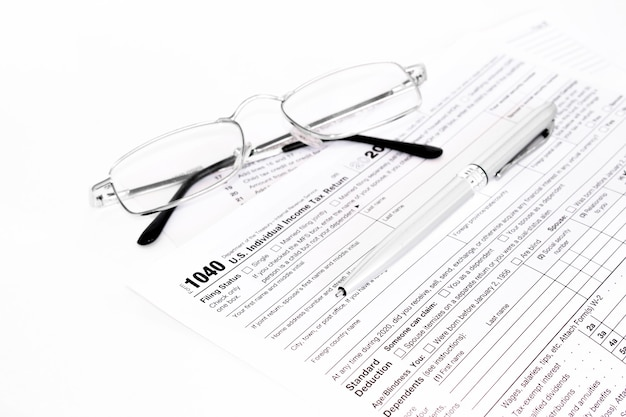Us-einkommensteuererklärung 1040.