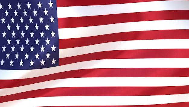 Us-flagge rendern mit textur