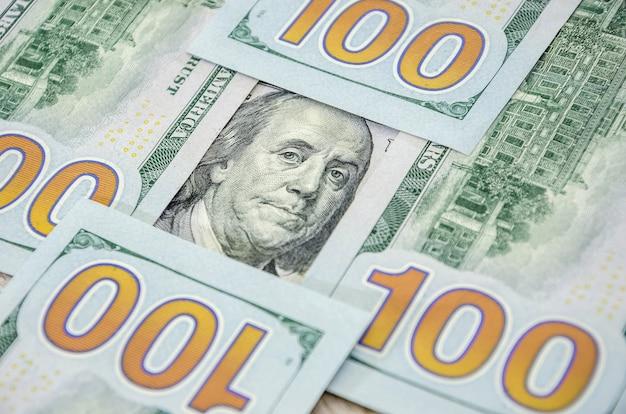 Us-hundert-dollar-scheine als hintergrund