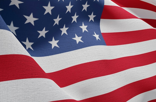 Us wahlkonzept mit amerika-flagge