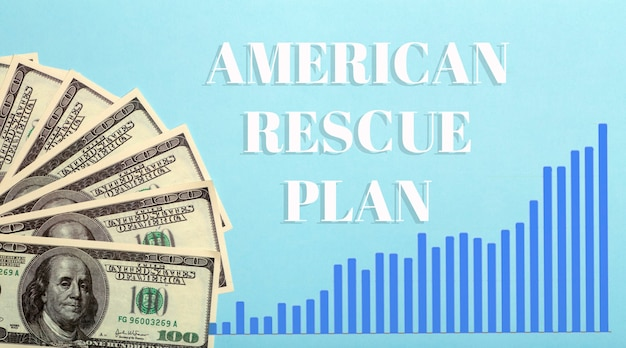 Usa-dollar-hintergrund. amerikanischer rettungsplan, usa-hilfsprogramm, stimulus-check und act of 2021-konzept. geld-, geschäfts-, gewinn- und lebensunterhaltsidee. foto in hoher qualität