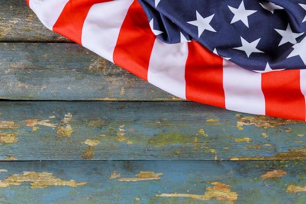 Usa nationalfeiertage amerikanische flagge holz hintergrund memorial day
