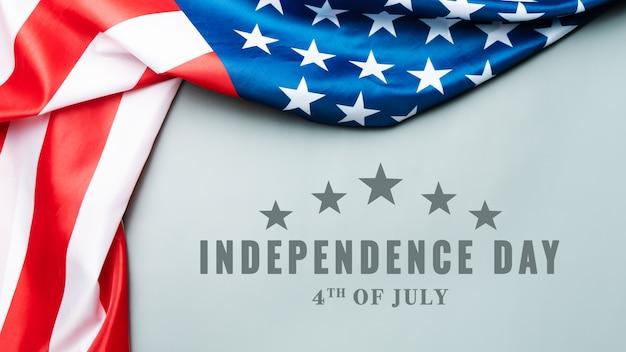 Usa unabhängigkeitstag 4. juli konzept, flagge der vereinigten staaten von amerika