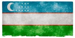Usbekistan grunge flag image