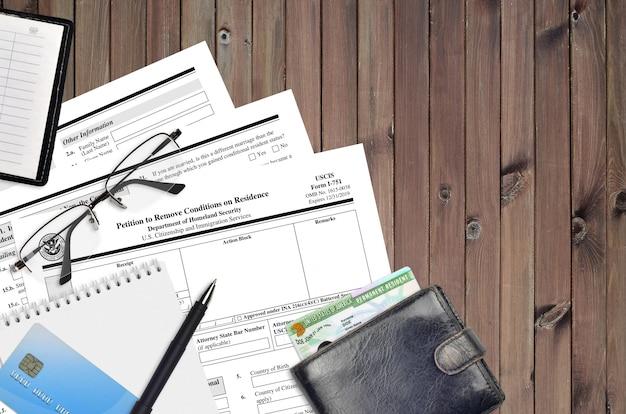 Uscis-formular i-751 petition zur aufhebung der aufenthaltsbedingungen