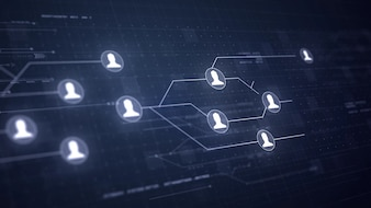 User People Network Leiterplatten Link Verbindungstechnik