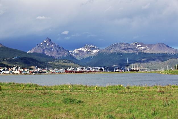 Ushuaia stadt auf feuerland, argentinien