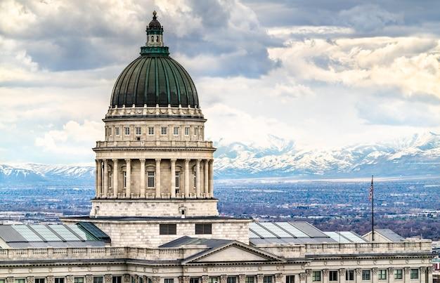 Utah state capitol building in salt lake city, usa