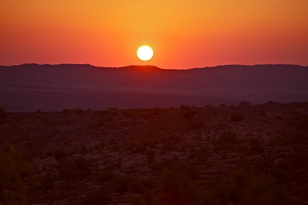 Utah-wüsten-sonnenuntergang