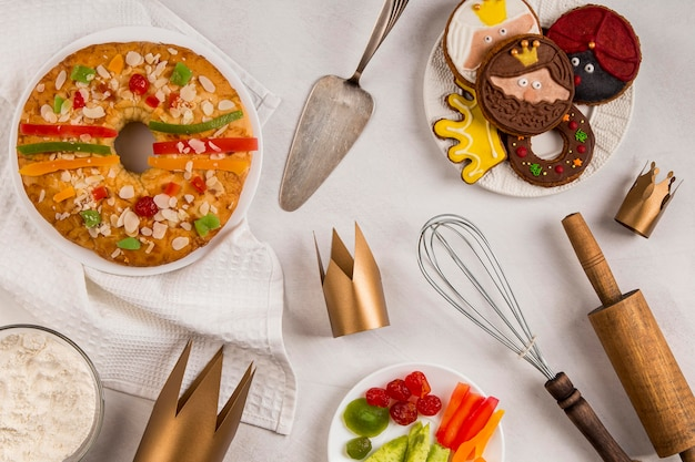 Utensilien und dessert fröhliche offenbarung