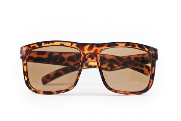 Uv-schutzbrille in quadratischer form und mit tigermuster