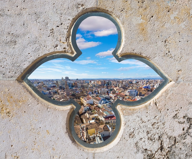 Valencia-luftskyline von el miguelete-turm spanien