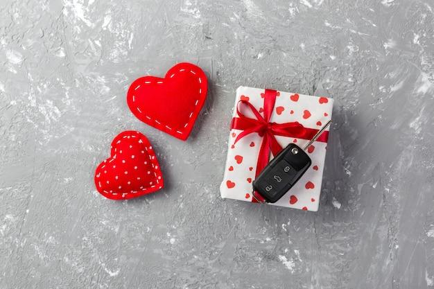 Valentine geschenkbox mit autoschlüssel
