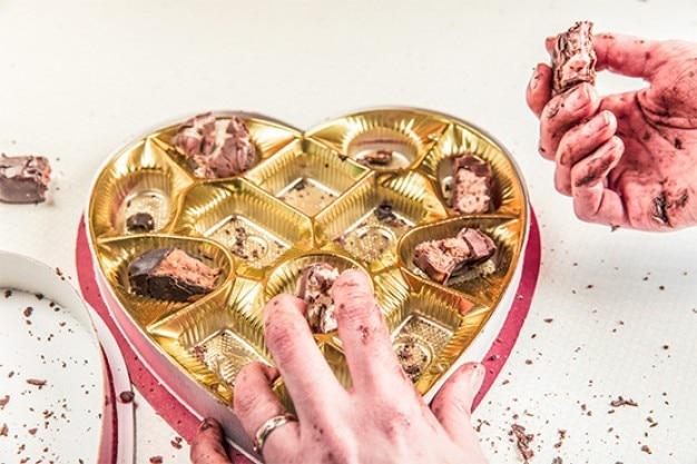 Valentines day chocolate box geschenk