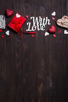 Valentinsgrußtag, hochzeit oder andere feiertagsdekorationen, rahmenhintergrund.