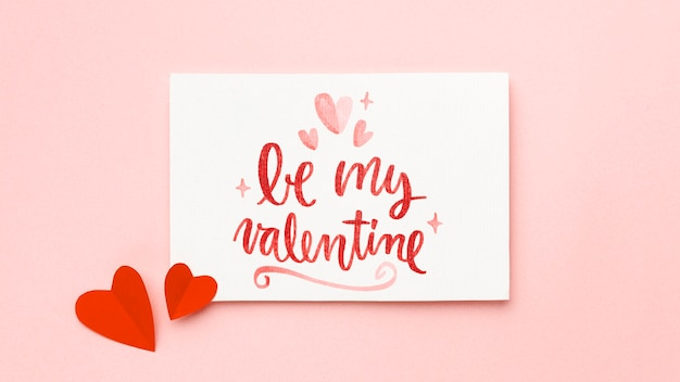 Valentinstag arrangement mit text