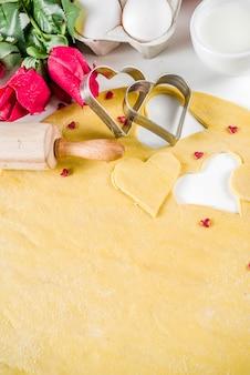 Valentinstag backen hintergrund
