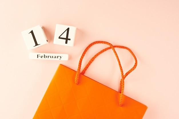 Valentinstag einkaufen konzept