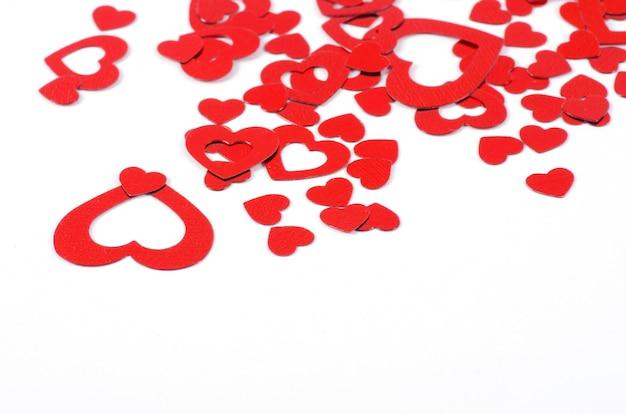 Valentinstag herzen confettii