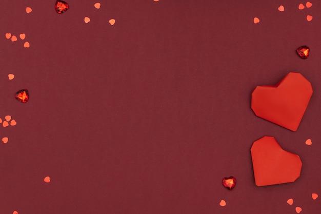 Valentinstag herzen grenze plastilin ton diy basteln